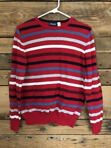Boys Place Pullover Crew neck Sweater sz 14 XL red white blue striped