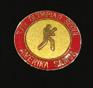 SEOUL 1988 Olympic AMERICA SAMOA  NOC BOXING team  delegation scarce pin