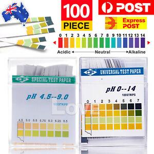 PH Test Strips (100 Strips) For Urine & Saliva Alkaline Diet Testing Kit Sticks