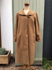 True Vintage 1960s/70s/80s Camel Wool Coat UK12 14 16 M