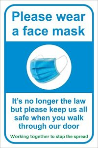 PLEASE WEAR A FACE MASK  - Social Distancing Safety Sign 200 x 300mm