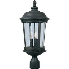 Maxim Dover Cast 3-Light Outdoor Pole/Post Lantern Bronze - 3022CDBZ
