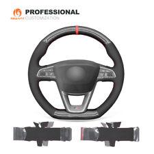 PU Carbon Fiber Suede Steering Wheel Cover for Seat Leon Ibiza (FR|CUPRA) Arona