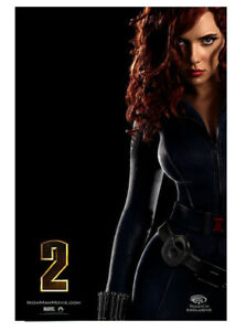Iron Man Black Widow 2010 WonderCon Exclusive Poster Marvel Scarlett Johansson
