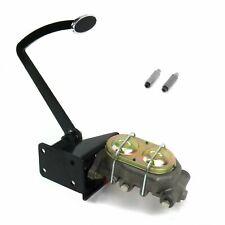 Universal Frame Mnt Manual Brake Pedal kit Disk/DrumSm Oval Chr Pad hot rod set