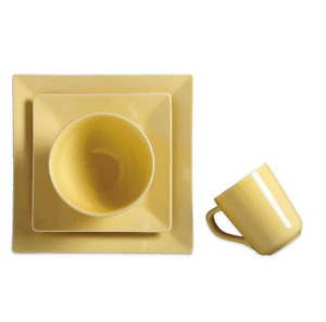 Real Simple® Square 4-Piece Place Setting in Buttercup