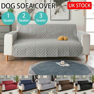 UK Waterproof Sofa Slip Cover Quilted Sofa Covers Pet Furniture Protector Throw