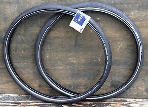 """700x50 Antique Black 29er Schwalbe Bicycle Tires 28""""x2.0 Vintage Wood Wheel Bike"""