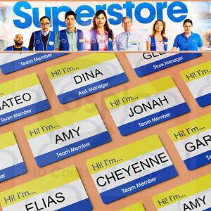 SUPERSTORE   Cloud 9 Employee ID Badge   America Ferrera   COSPLAY ID Cards