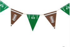 """Robert Stanley Football Wood Twine Penant Party Banner 55"""""""