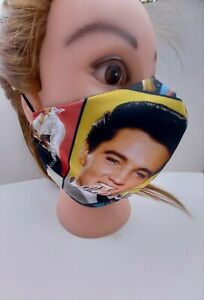 Face Mask Protective Mouth Nose Covering UK Washable Elvis Presley Colour