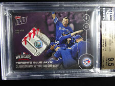 2016 Topps Now #539D Blue Jays Wild Card Win 6/25 Game Used Base 9.5 BGS Card
