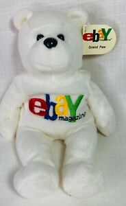 Plush eBay Magazine 1999 Limited Edition Grand Paw Bear Beanie Bean Bag Vintage