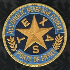 Texas Alcoholic Beverage Comm. Patch  Ports Of Entry Uniform Shirt Removed VR1