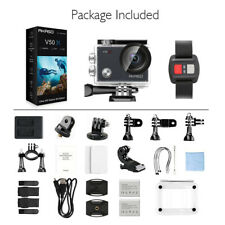 AKASO V50X Caméra Sport 4K Etanche WiFi Full UHD Stabilisateur Écran Tactile Kit
