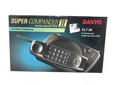 Vintage SANYO Super Compander 2 Cordless Phone Home Telephone Good Battery