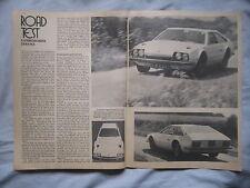 1971 Lamborghini Jarama Original Motor magazine Road test