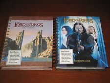 Lord of the Rings Datebook lot NEW Fellowship of Ring 2003 Two Towers 2004 LOTR