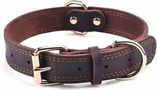 GENUINE LEATHER DOG COLLAR / DURABLE ALLOY HARDWARE FOR LONG LASTING USE PREMIUM
