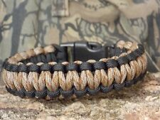 550 Paracord Survival Bracelet  Copperhead & Black Triple Core Cobra Weave