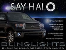 2007-2013 Toyota Tundra Angel Eye Fog Lamps Driving Lights Kit w/ Harness Switch