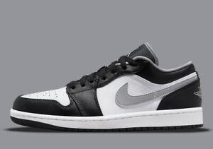 Air Jordan 1 Low Black White Grey Basketball Sneaker Sz 8.5 553558-040 Limited
