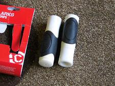 NEW NOS clarks comfort handlebar grips white black hybrid mountain bike