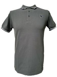 Warrior UK England Pique Polo Shirt Grey Slim-Fit Skinhead Mod Punk Hemd Grau