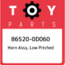 86520-0D060 Toyota Horn assy, low pitched 865200D060, New Genuine OEM Part