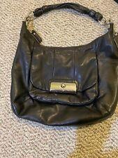 COACH Kristin Large Soft Black Leather Hobo Shoulder Bag M1026-16808 GUC