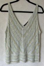 Sigrid Olsen Collection Silk blend v-neck Top NWT Size PL Sleeveless