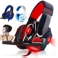 3.5mm Gaming Headset MIC LED Headphones 3D Surround for Computer PC Laptop Gamer