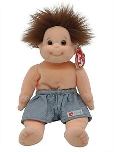 Ty Beanie Baby Kids Tumbles Brunette Boy Collectible Plush Retired Vintage New