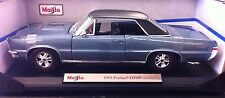 1965 PONTIAC GTO SPECIAL EDITION , BLUE WITH BLACK TOP 1/18 SCALE DIE CAST CAR