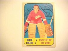 1967-68 NHL TOPPS #48 ROGER CROZIER DETROIT RED WINGS Hockey Card G583