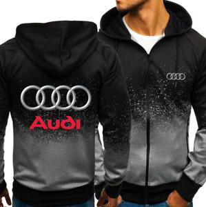 Audi LOGO bedruckte Sportkleidung Casual Fashion Jacke mit Farbverlauf DE