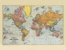 Canvas Vintage Map Art Prints