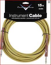 Fender Tweed Custom Shop Guitar Lead Cable Length 15ft / 4.5M  Gift Idea