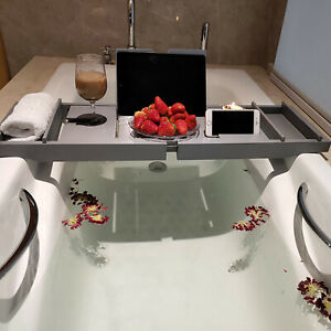 Luxury Extendable Bath Tub Caddy Bathroom Stand Tray Bathtub Shower Caddy UK