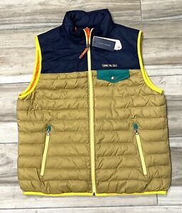 Tommy Hilfiger Outdoors Travel Puff Zip Packable Sports Jacket Vest Mens 2XL New