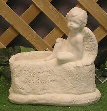 New listing Cupid Pixie Cherub Angel Planter Vase Latex Fiberglass Production Mold Concrete