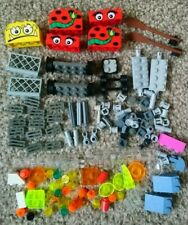 LEGO Various Bricks and Pieces Fences Wheels Faces Oars