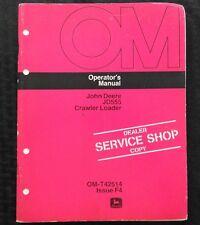1974-75 JOHN DEERE 555 JD555 TRACTOR CRAWLER LOADER OPERATORS MANUAL VERY GOOD