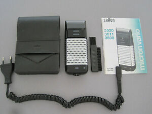 Braun Rasierer Micron Vario 3, Mod. 3520, Accu & Scherteile neu, top Zustand !!