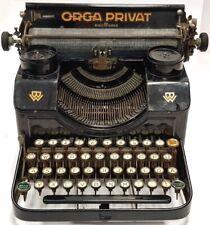 Antigua y coqueta  maquina de escribir ORGA PRIVAT+ tapa TYPEWRITER