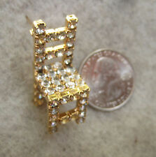 DOROTHY BAUER Shaker style chair pin in Swarovski Austrian clear crystal