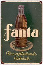 German Fanta Vintage Look Reproduction Metal Sign 8 x 12