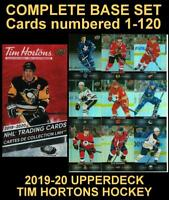 2019-20 UD TIM HORTONS 🍁🍁 COMPLETE BASE SET 🍁🍁 Base Cards 1-120