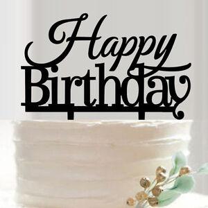 Acrylic Cake Topper 'HAPPY BIRTHDAY' Birthday Party Decoration
