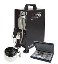 Profesional Aerografía Kit-Ultra 2 En 1 Aerógrafo & Sparmax 610h Compresor